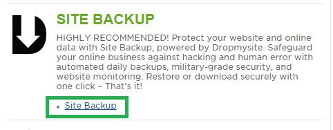 Site Backup
