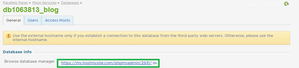 Browse Database