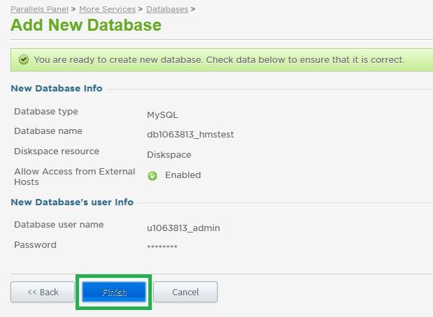 how to create mysql database mac