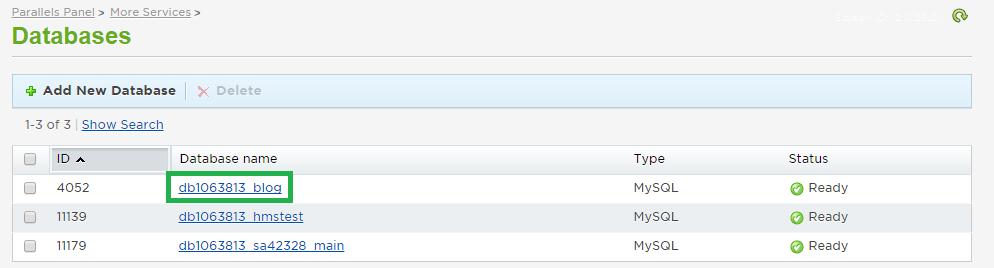 Database Select